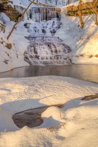 Falls in Bluestone State Park