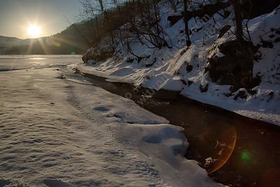 Sunrise at Bluestone State Park