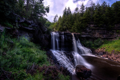 Black Water Falls in the Monongahela National Forest in West Virginia