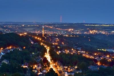 Halifax Town at Twilight