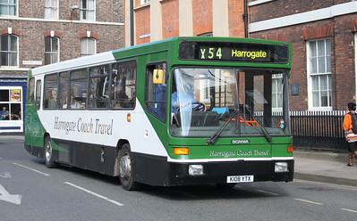 Harrogate Coach Travel K108YTX Blossom St York Apr 10