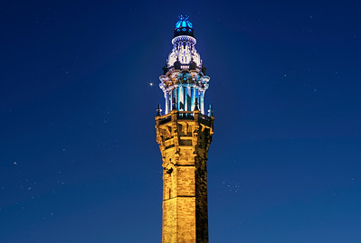 Wainhouse Tower with the planet Venus.