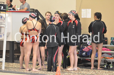 West at Clinton girls swimming (9-27-16)