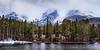 Snow at 12K -- Sprague Lake, Rocky Mountain National Park