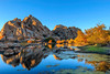 CA-Joshua Tree National Park-Barker Dam with fall reflections