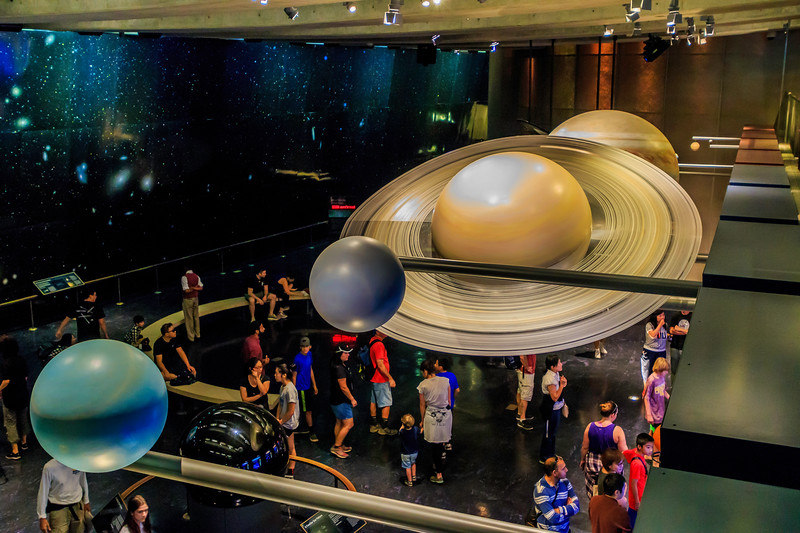 CA-LOS ANGELES-Griffith Observatory-Solor system room