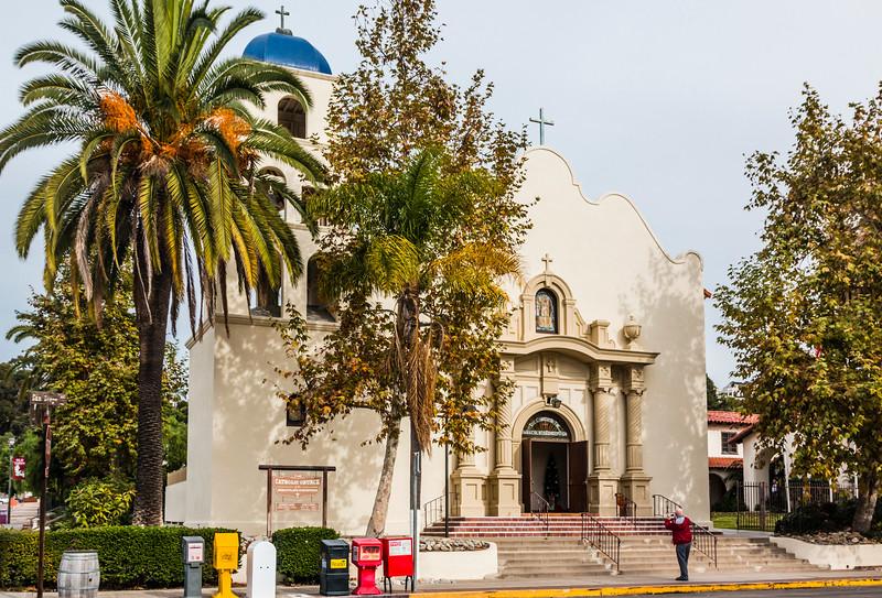 CA-SAN DIEGO-OLD TOWN-CATHOLIC CHURCH-BUILT 1868