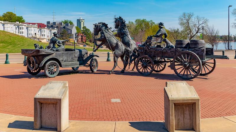 OKLAHOMA-TULSA-Cyrus Avery Centennial Plaza