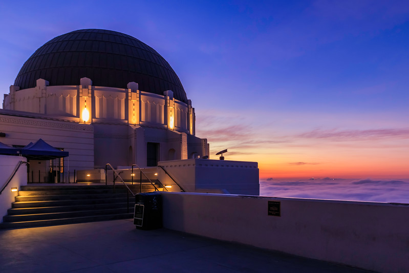 CA-LOS ANGELES-Griffith Observatory-Fog over Los Angeles