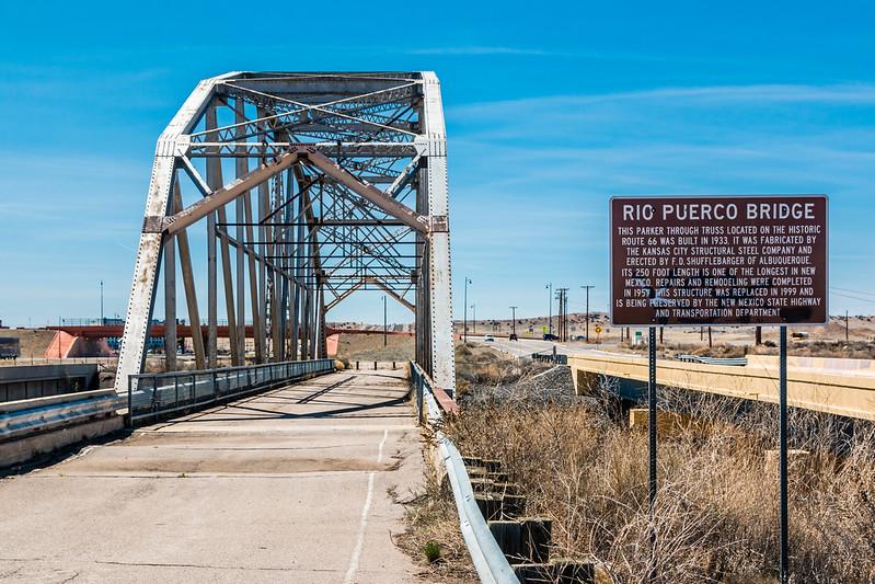 NM-ALBUQUERQUE-RT. 66-RIO PUERCO BRIDGE