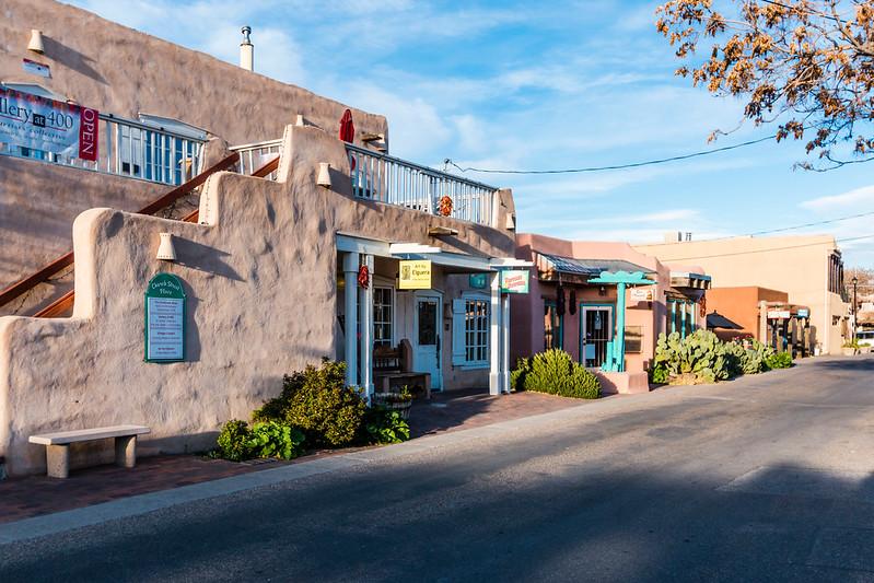 NM-ALBUQUERQUE-OLD TOWN-CHURCG STREET