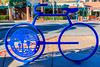 CA-PALM SPRINGS-Blue bicycle rack