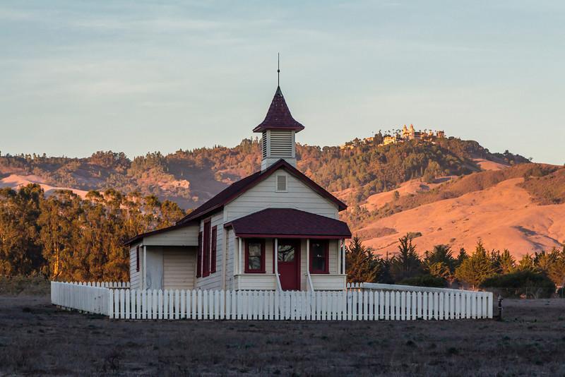 CA-SAN SIMEON-ONE ROOM SCHOOL-IMAGE NOT FOR SALE