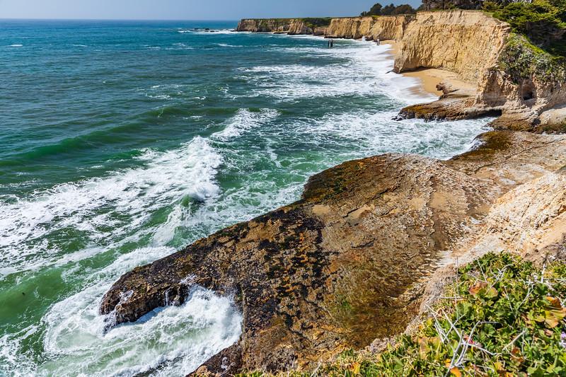 California-Davenport-Davenport Beach-sea caves