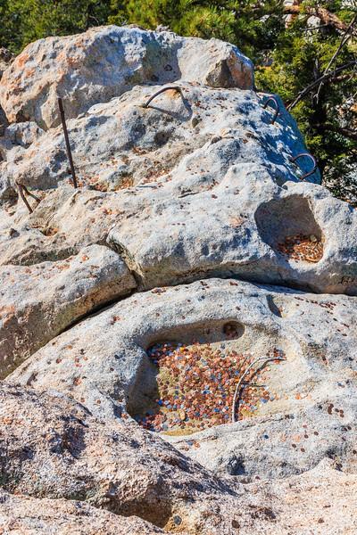 CA-Mount San Jacinto State Park-Pitched pennies