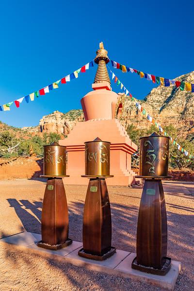 ARIZONA-Sedona-Amitabha Stupa and Peace Park-Prayer wheels
