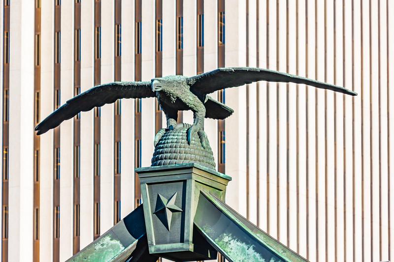 Utah-Salt Lake City-Eagle Gate monument