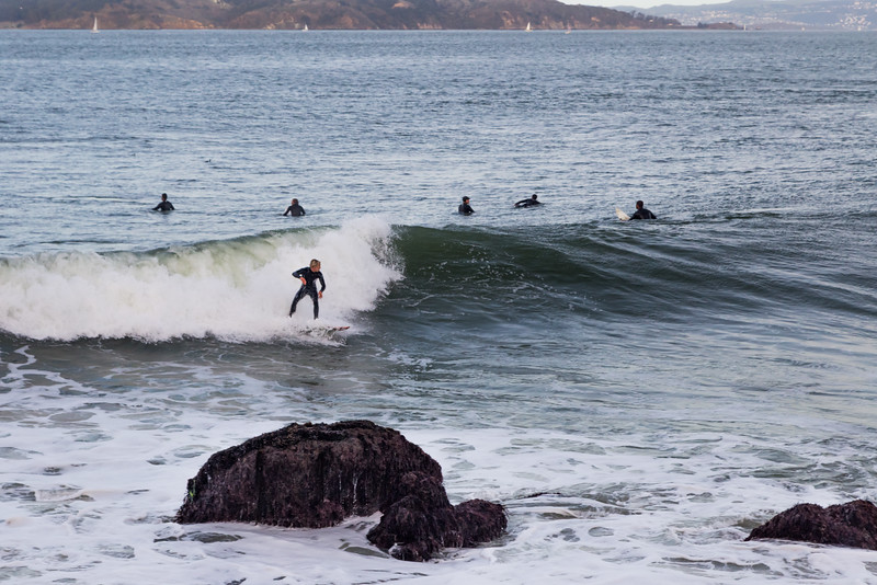 CA-FORT POINT-Surfing