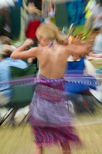 a young hula-hooper is slowed to 1/6 of a second, Grand Targhee Music 2012
