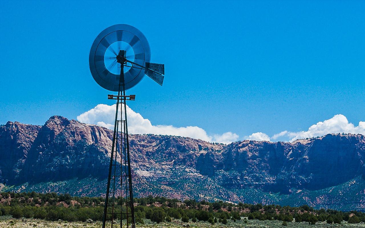 Windmill, Highway 59 North of Hildale, Utah