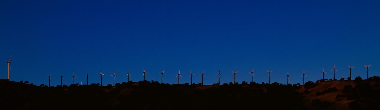 Wind turbines, Dinosaur Point, California, 1995