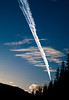 Contrail, Okanogan County, Washington, 2000