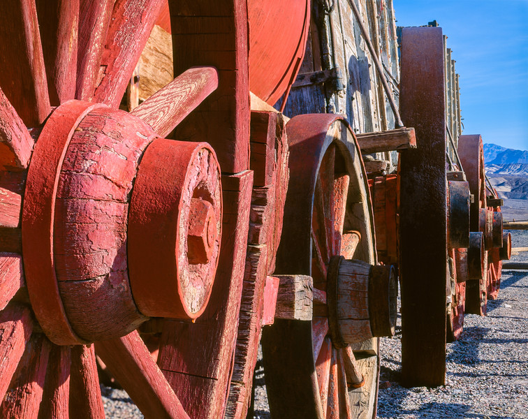 20 mule team wagon train, Death Valley National Park, California, 1995