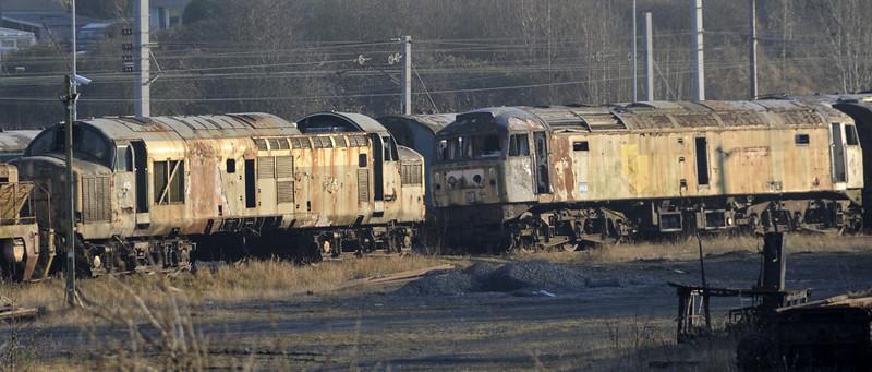 37165 & 47194, Carnforth, Tues 19 February 2013.