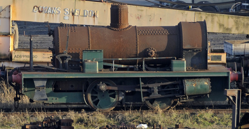 Dismantled outside cylinder 0-4-0ST, Carnforth, Tues 19 February 2013.   Peckett 2027 / 1942, ex Sellafield and previously named BNFL 1 then Wee Willie.