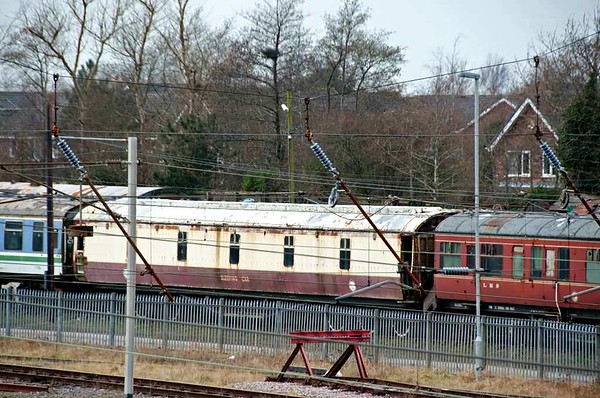 M395, Carnforth Steamtown, 20 February 2013.  LMS design 12-wheel first class sleeping car, built at Wolverton in 1951.  Reported still at Carnforth in 2017.
