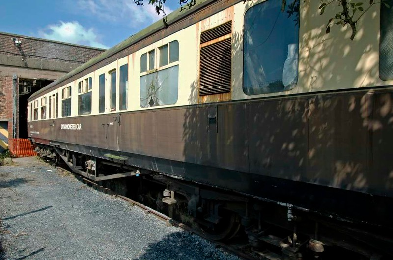 DW 150192, Carnforth Steamtown, 26 July 2008 1.  This coach was originally Hawksworth corridor third No 796, built at Swindon in 1948.  It was rebuilt as a Western Region dynamometer car in 1961.  Reported still at Carnforth in 2017.