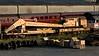 ADRC 96100, Carnforth Steamtown, 4 April 2011.  Cowans Sheldon 30 ton diesel-mechanical crane, built in 1961.  Still at Carnforth in 2017.
