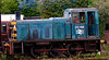 03196, Carnforth, Thurs 6 May 2004 - 1050.  West Coast Railway Co's shunter assembles a rake of coaches in the former Steamtown sidings.
