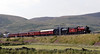 5972 Olton Hall, '61244' & 33025, 5Z64, Tues 25 July 2006 1: Crawford - 1748.   Here are seven photos of LNER B1 4-6-0 61264 being recovered from Fort William to Carnforth after suffering severe damage to one of its cylinders.  With 33025 pushing hard, 5972 approaches Beattock Summit with the stricken B1.