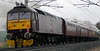 47854 brings up the rear as 6201 Princess Elizabeth forges past Penrith towards Shap on Sat 17 March with Past Time Rail's Lakes Express from Euston.