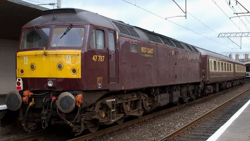47826 & 47787, 5Z14, Carnforth, 7 March 2008 - 1220 2