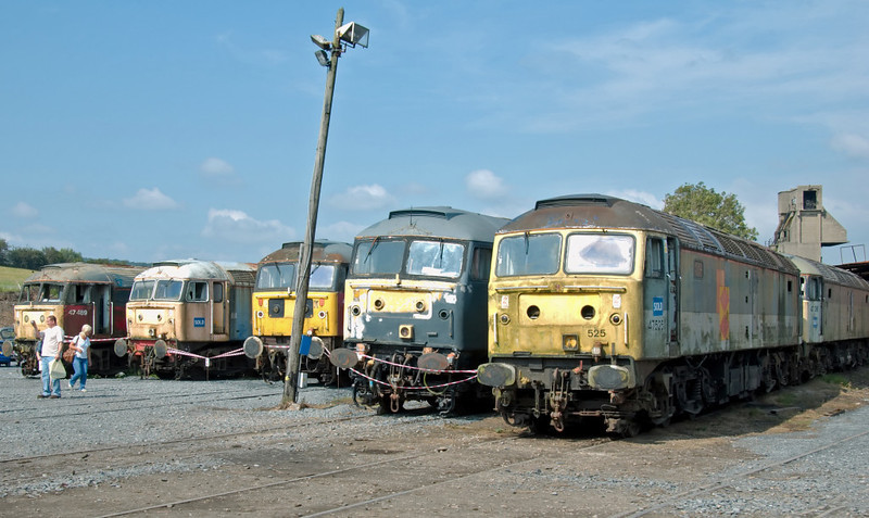 47489 (left), 47526, 47772, 47492, 47525 & 47368, Carnforth, 26 July 2008