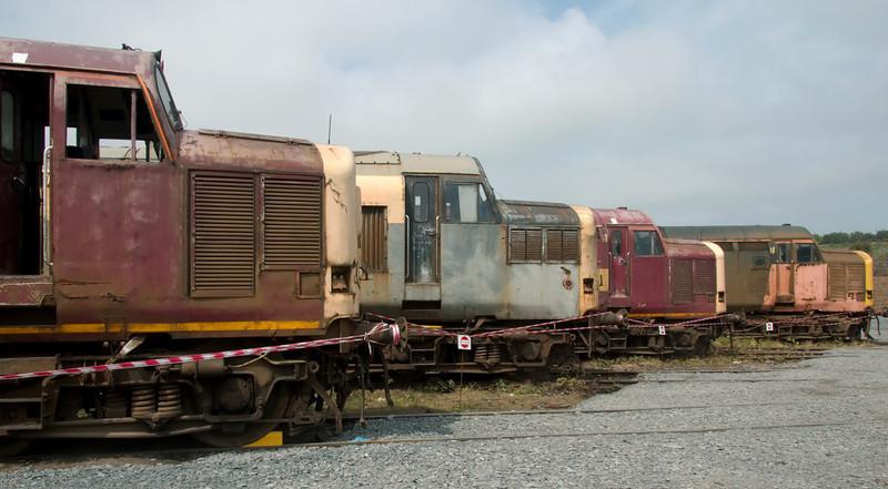 37668, 37165, 37717 & 37517, Carnforth, 27 July 2008
