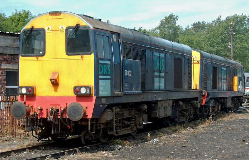 20302 & 20307, Carnforth, 27 July 2008