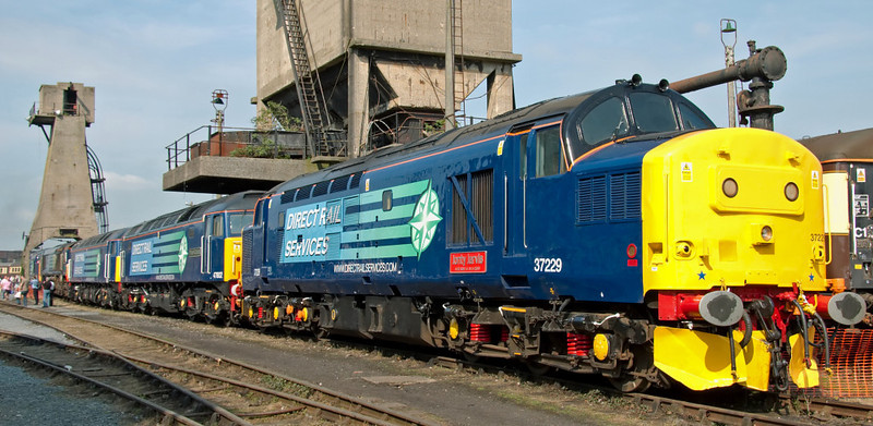 37229 Jonty Jarvis, 47802 Pride of Cumbria, 57010, 66429 & 37602, Carnforth, 26 July 2008