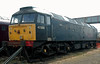 47355, Carnforth, 27 July 2008.    The former Fragonset loco is still in search of a home.