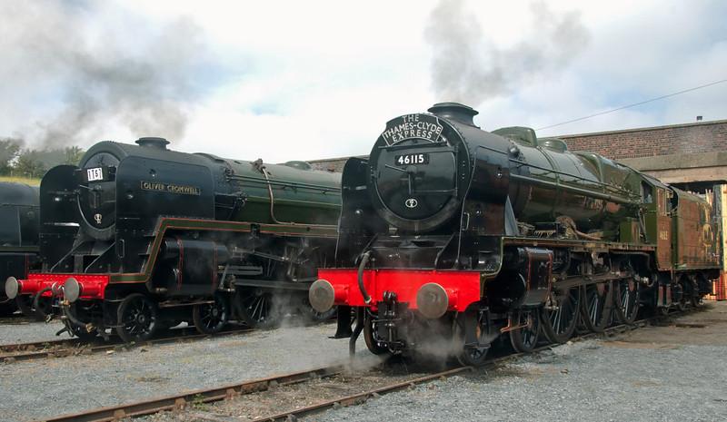 70013 Oliver Cromwell & 46115 Scots Guardsman, Carnforth, 27 July 2008