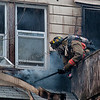 04/25/14/ West Haven, CT - Firefighters responded to 114 Highland Street to find smoke showing from a two story, wood frame dwelling Friday evening. Members found a fire in the walls near the rear of the house. The fire extended to the second floor before being extinguished. The cause of the fire is under investigation. No one was hurt in the fire.