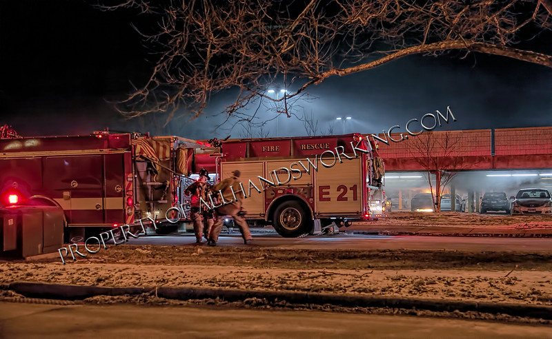 01/30/14 1 Campbell Avenue West Haven, CT - Companies stretched on an auto in a parking garage with exposures.  The fire was kept to the car of origin and extinguished.  The cause is unknown.