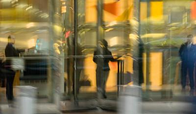 Woman in Revolving Door, Wacker Drive, Chicago
