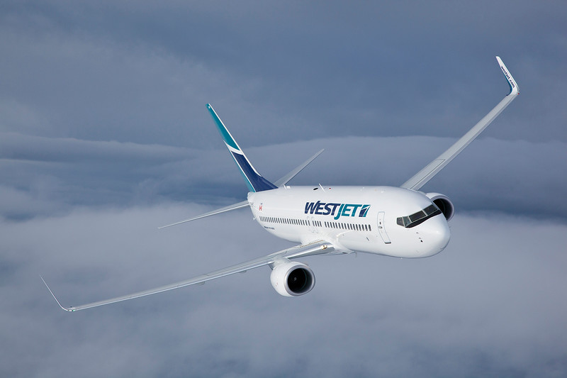 Westjet 737-800 air to air