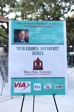 2018 West Chamber breakfast GREG BROCKHOUSE Councilman cam 1