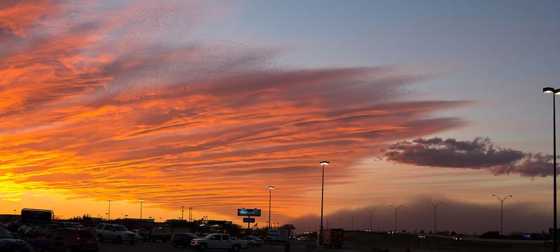 West Texas Haboob Meets Sunset