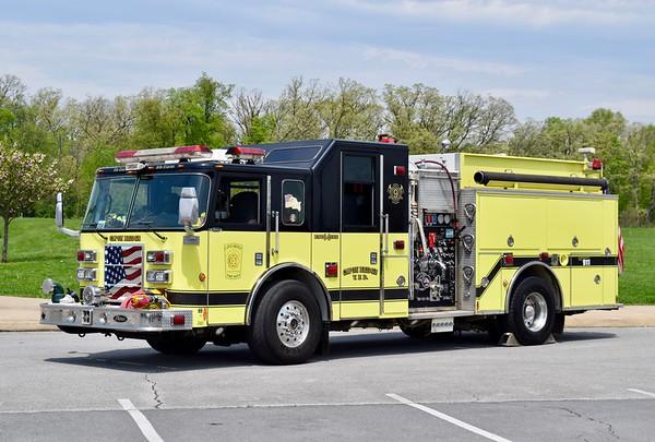 Capon Bridge's Engine 9-2, photographed at the annual Apple Blossom festival in Winchester, VA.