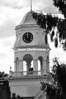 First Congregational Church clock tower.